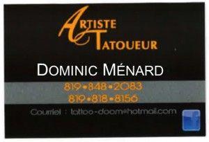 Artiste tatoueur Dominic Ménard