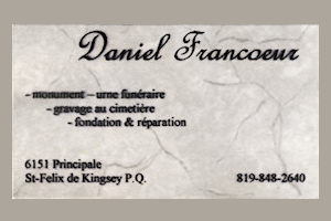 Carte d'affaire Daniel Francoeur