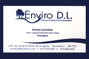 Carte d'affaire Enviro D.L.