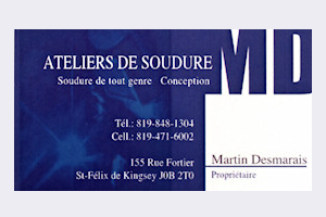 Carte d'affaire Soudure MD