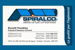 Carte d'affaire Spiralco