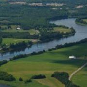 Rivière St-François à St-Félix - vue aérienne